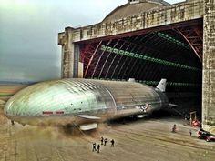 Helium-Powered Aluminum Airship