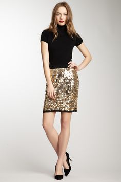 Dolce and Gabbana Gold Sequin Skirt