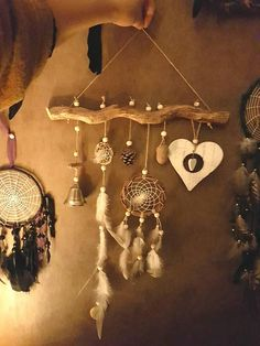 Dream Catcher-Heart-Mobile-White-NaturalCheck out this item in my Etsy shop https://www.etsy.com/uk/listing/575300262/beautiful-mobile-wall-hanging-dream