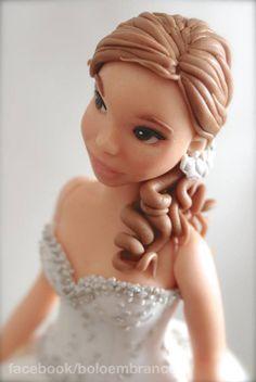 Bride (sugar paste modeling)