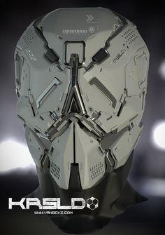 Guardian by Vang Cki. (via Cki Vang) Helmet Armor, Suit Of Armor, Robot Concept Art, Armor Concept, Robot Design, Helmet Design, Futuristic Helmet, Combat Suit, Sci Fi Armor