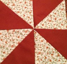 Fast and Easy Pinwheels!!! I'm new to quilting and I did it!   This was a tutroial on youtube by MissouriQuiltCo.  I've fallen in love with pinwheels and will be making blocks for a sewing machine cover.