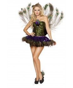 Roxanni Halloween 3pc Tempting Peacock Women's Costume by Roma®