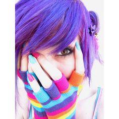 Purple Scene Hair :D
