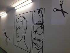 Hairdressing wall stickers from www.wallchimp.co.uk