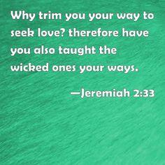 Jeremiah 2:33