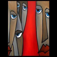 Wherever - Original Abstract painting Modern pop Art Contemporary Portrait FACE by Fidostudio Modern Pop Art, Contemporary Art, Abstract Faces, Abstract Art, Pop Art Collage, Art Visage, L'art Du Portrait, Chicago Artists, Art Africain
