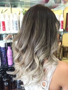 Perfect ash blonde ombré by Van | Yelp