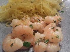 What Lauren Eats: Shrimp Scampi with Pasta (or Squash)