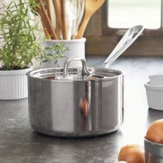 All-Clad Stainless Steel Saucepans with Lids | Sur La Table
