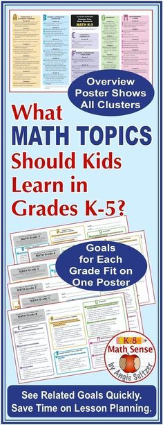 This resource is based on Common Core standards but is also helpful if your curriculum is a variation. You'll get 50-60 student-friendly goals per grade level, color-coded by cluster across K-5! It's a time-saver for comparing math goals across grades!