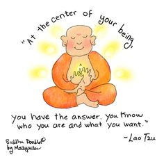 At the center of your being ... #Buddha Doodle #inspiration