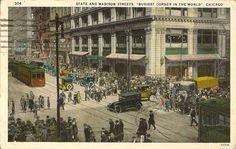State Street, Nostalgia, Chicago, Street View, History, Crowd, Painting, Photos, Historia