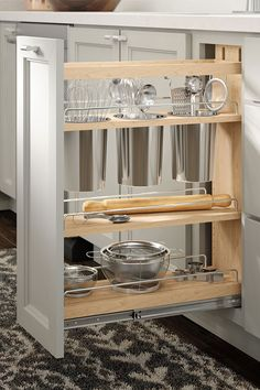 ThoCanisterPoutMDvS Kitchen Drawer Organization, Kitchen Cabinet Storage, Kitchen Cabinet Design, Interior Design Kitchen, Living Room Kitchen, Home Decor Kitchen, Home Decor Furniture, Kitchen Furniture, Best Kitchen Cabinets