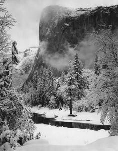 Ansel Adams, El Capitan, Winter, Yosemite National Park, California   Artsy