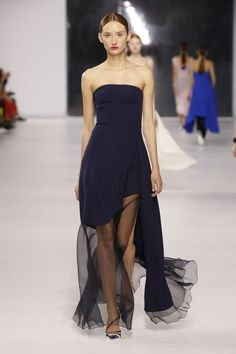 Dior Cruise 2014 – Look 54: Navy silk bustier dress. Discover more on www.dior.com #Dior