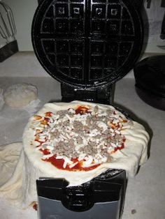 Cooking With My Food Storage: Pizza Waffles