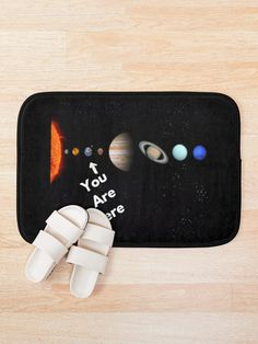 'Solar System Map' Bath Mat by Personal Product Designers Solar System Map, Bath Mat, Designers, Map Of Solar System, Bathrooms