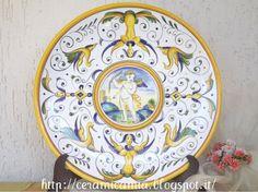Wall plate #ceramic , #handpainted , #Italy