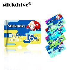 Stick Stick 100% Original Weihnachtsmann Micro Sd-karte 8 GB 16 GB 32 GB 64 GB Speicherkarte High Speed TF Karte mit adapter für telefon