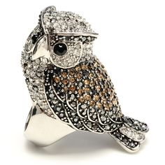 Amrita Singh | Crystal Owl Ring - Jewelry Rings - Cocktail Rings