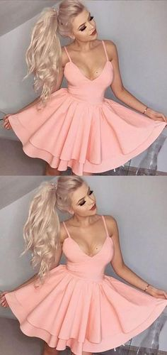 Sexy Homecoming Dress, Back To School Dress, Short Prom Dresses For Teens pst1660