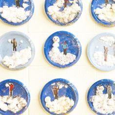 """Snow globe"" Craft (from Kamini, Teach. Grow. Love via Instagram: https://www.instagram.com/p/BPEbqUhjngj/?taken-by=teach.grow.love)"