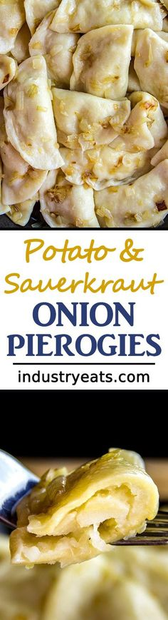 Homemade Sauerkraut & Potato Onion Pierogi Recipe - If you want to fill your belly tonight, start off right by preparing the ultimate pierogi recipe. This special treat is sure to warm the hearts of your friends and family. Great texture and flavor. Sure to please! Includes potatoes, onion, sauerkraut and sour cream.