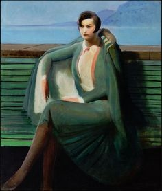 Guy Pene Du Bois, Lady in a cloak, 1927