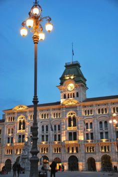 Piazza Unita D'Italia in Trieste, Italy