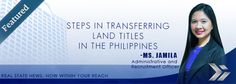 Steps in transfering land titles in the Philippines