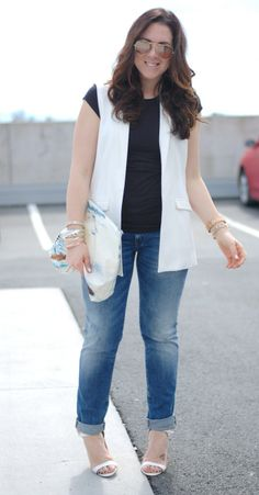 b2b422f168a0dd Casual cool  Mavi Emma boyfriend jeans and a 424 Fifth paradise clutch (www.