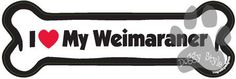 I Love My Weimaraner Dog Bone Magnet http://doggystylegifts.com/products/i-love-my-weimaraner-dog-bone-magnet
