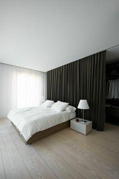 chambre a coucher sol en parquet cloison amovible leroy merlin rideau gris anthracite