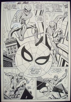 Page from AMAZING SPIDER-MAN #90 by Gil Kane and John Romita