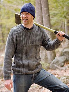 Beagle is a classic gansey with easy to follow texture patterns that will entertain the knitter and add just enough interest for the wary sweater wearer. See the coordinating Beagle scarf.