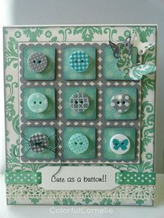 love the colour and the buttons....would like to try this with our button stamp set