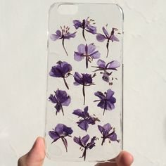 pressed dried flower case for iphone 6/6s floral