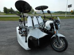 motorcycle with a drum set