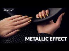 Nowość! Semilac Metallic Effect - aplikacja krok po kroku Acrylic Nails At Home, Metallica, Snapchat, Manicure, Youtube, Nail Bar, Nails, Polish, Manicures