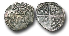 Edward IV (1461-1483), Penny, 0.51g., Light Cross and Pellets Coinage (c.1470-78), Dublin mint, crowned facing bust of Edward, two pellets at neck, rev., plain long cross, (S.6364; JBurns Du-5 (type 5)), good very fine.