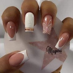 Pink Nails, Gel Nails, Manicure, Elegant Nails, Stylish Nails, Classy Nails, Best Acrylic Nails, Acrylic Nail Designs, Nail Art Designs