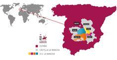 Mapa D.O.P. La Mancha