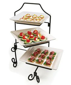 Take a look at this Circle Glass Marlton Collection Three-Tier Tasting Set by Circle Glass on #zulily today!