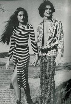 """The late 60s marked a transition in fashion from the classic, perfect tailored, Mod inspired, and probably at times """"too formal"""" clothes to ... 60s And 70s Fashion, Mod Fashion, Fashion Shoot, Fashion Beauty, Vintage Fashion, Hippie Bohemian, Bohemian Style, Boho Chic, Bohemian Fashion"""