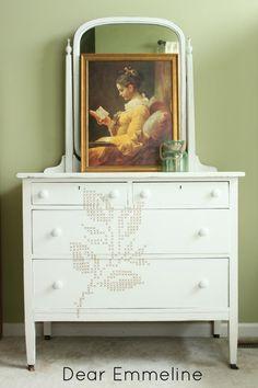 Dear Emmeline: Cross Stitch Dresser