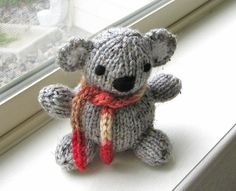 Knit Toy Amigurumi Koala Hand Knitted Childrens by VeryCarey, $20.00