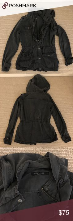 Max Jeans Hooded Jacket 100% Tencel Max Jeans Hooded Jacket Max Jeans Jackets & Coats