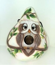 Country Cottage Garden, Gourds Birdhouse, Hand Painted Gourds, Tree Branches, Bird Houses, Owl, At Least, Etsy, Birdhouses