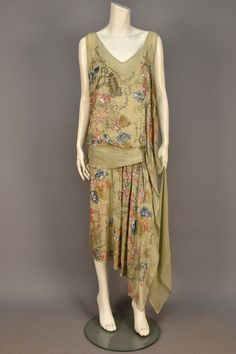 Beaded and Sequined Silk Dress by Worth, 1925.